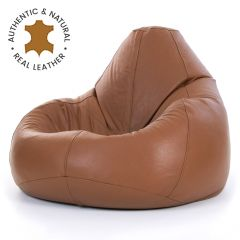 Tan Real Leather Recliner