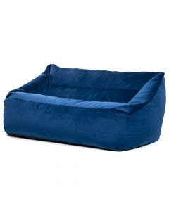 Velvet Bean Bag Love Seat Navy