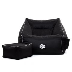 i-eX gaming armchair bean bag with footstool