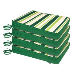 Garden Chair Seat Pads pack of 4 in green