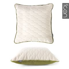 ICON™ Diamond Pop Cushion, Oatmeal & Moss