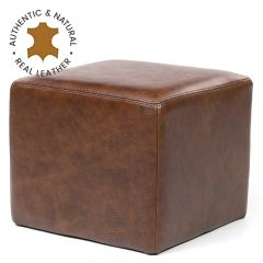 Real Leather Footstool