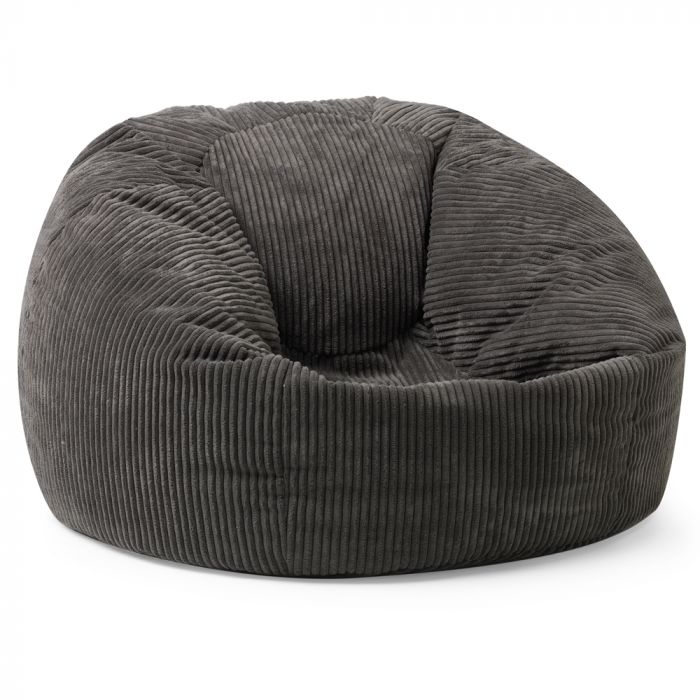 Grey Cord Bean Bag