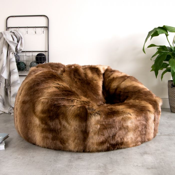 ebe69d38ce2b ICON™ Faux Fur Bean Bag