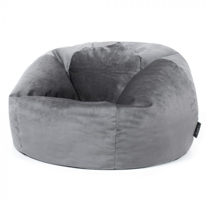 Grey Velvet Bean Bag