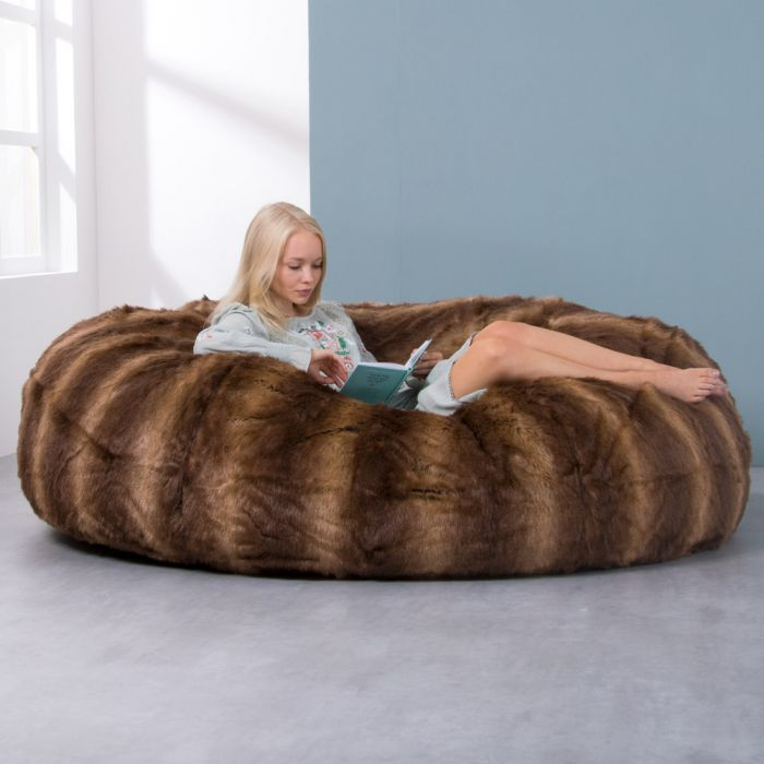 f16cfa73e3 ICON™ Cloud Two-Seater Faux Fur Bean Bag