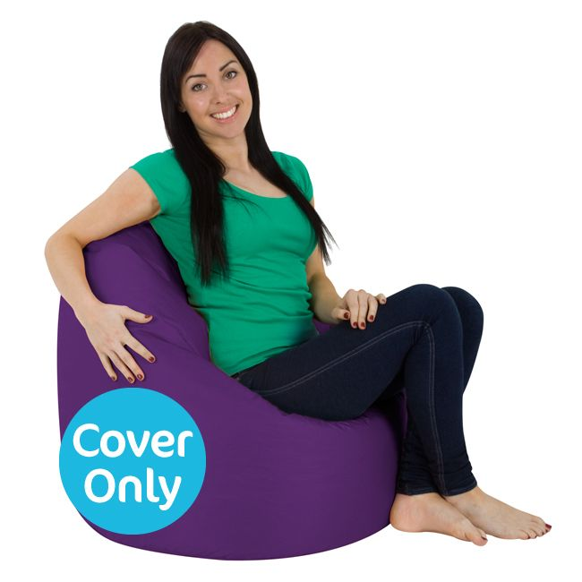 Cover Large Bean Bag With Handle Indoor Outdoor Purple