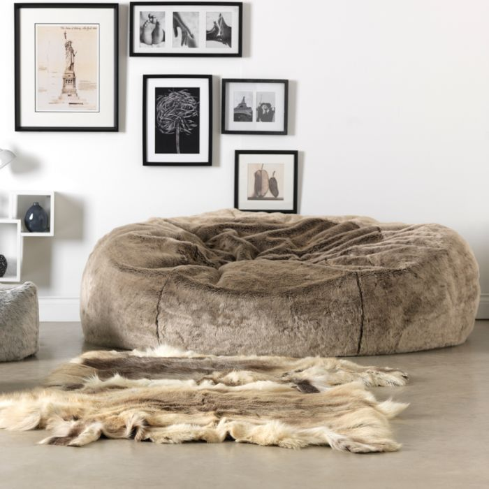 4e7ccb610d8c ICON™ Ottawa Cloud Two-seater Faux Fur Bean Bag
