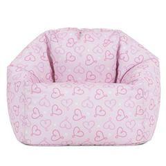 Icon® Ditsy Hearts Kids Bean Bag, Pink