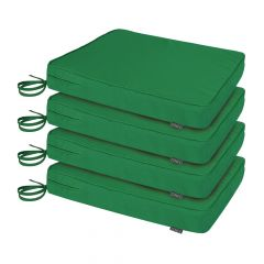 Pack of 4 Garden Chair Cushions in green
