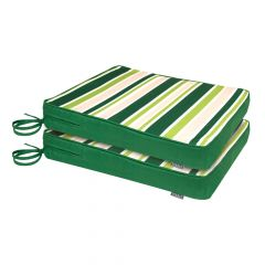 Garden Stripe 2 pack of cushions