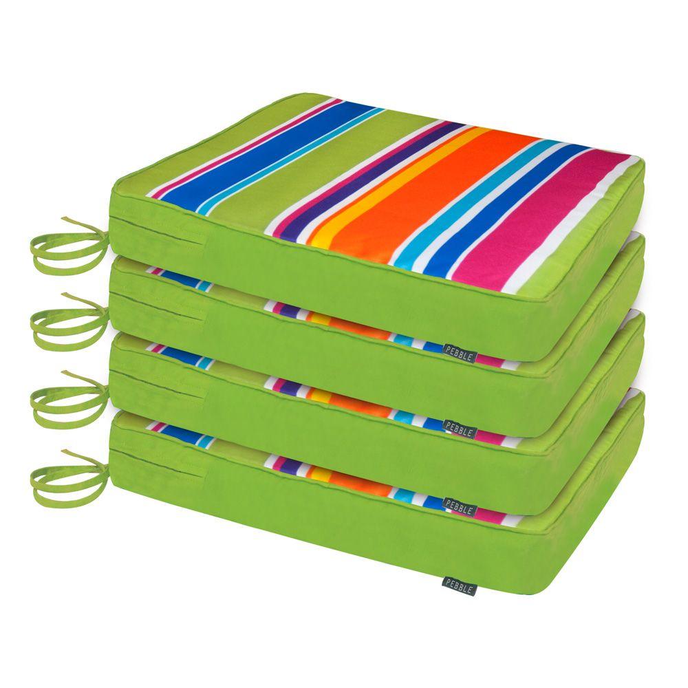 Vibrant 4 pack garden chair cushions