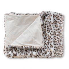 ICON™ Luxury Faux Fur Throw, Snow Leopard