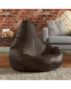 Tan Faux Leather Bean Bag