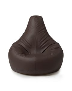 Recliner Bean Bag in brown faux leather