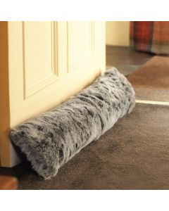 ICON™ Kenai Faux Fur Draught Excluder, Arctic Wolf