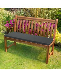 Black Bench Pad in Garden