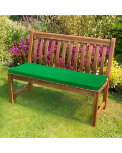 Green Bench Pad in Garden