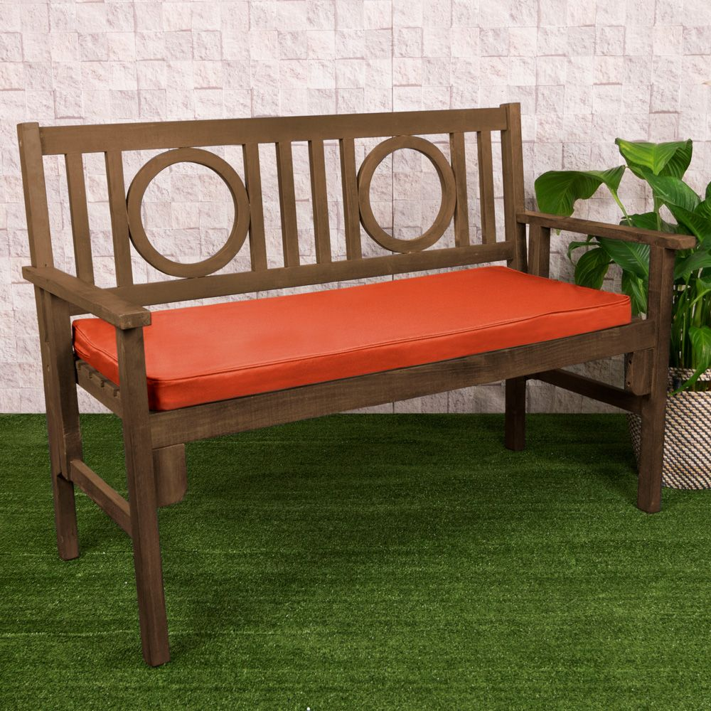 2 Seater Bench Pad, Terracotta