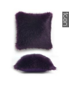 ICON™ Soho Spikey Faux Fur Cushion, Purple