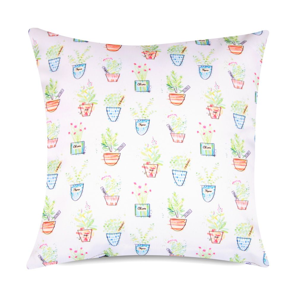 Herb Print Garden Cushion