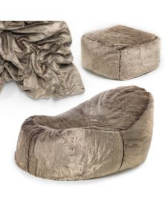 Fur Lounger Bean Bag Combo Deal