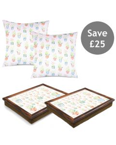 Herb Garden Cushion and Lap Tray Bundle