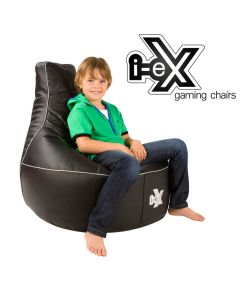 i-eX Rookie Kids Gaming Chair Black/Silver