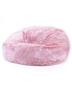 ICON® Hacienda Faux Fur XL Bean Bag, Rose Dust Pink