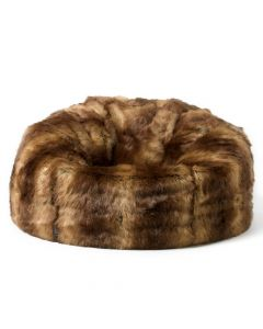 ICON™ Faux Fur Bean Bag, Brown Bear