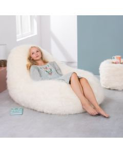 ICON® Soho Faux Fur Dream Lounger, Cream