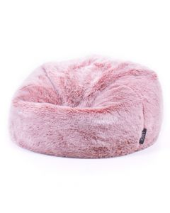 ICON™ Luxury Faux Fur Classic Bean Bag, Rose Dust Pink