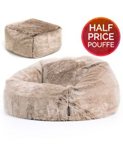 ICON® Mink Faux Fur Bean Bag & Pouffe