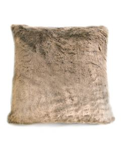Luxury Large Floor Cushion in Faux Fur Mink