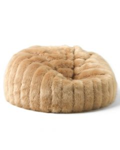 ICON™ Luxe Faux Fur Bean Bag, Champagne