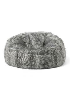 ICON™ Faux Fur Bean Bag, Ostrich