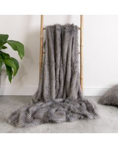 ICON™ Ostrich Luxury Faux Fur Throw