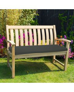 Bench Pad Black in Garden