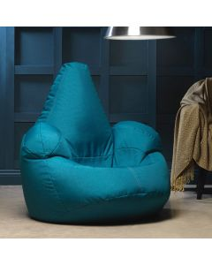 Teal Armchair Bean Bag indoors