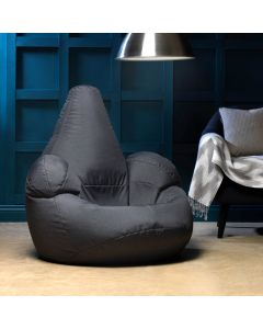 ICON Oria Armchair Bean Bag in Charcoal Grey