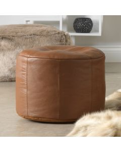ICON™ Luxury Real Leather Bean Bag Footstool