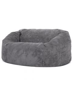 ICON® Soul Giant Two-Seater Bean Bag, Charcoal Jumbo Cord