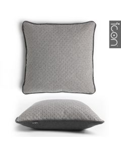 ICON™ Dot Pop Cushion, Light Grey & Charcoal