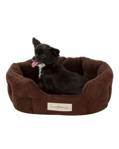 small oval dog bed