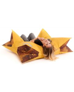 Honeycomb Wing Bean Bag, Mustard