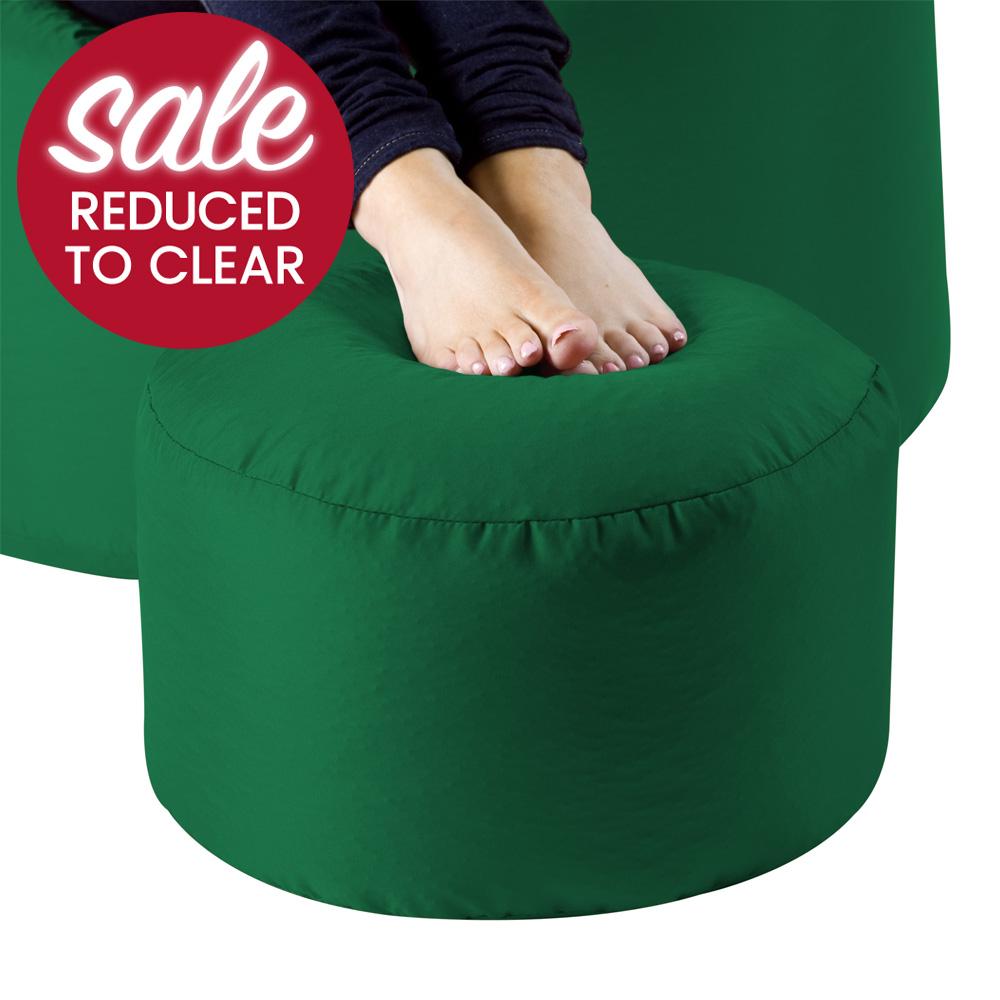 Image of Bean Bag Footstool Indoor-Outdoor Green