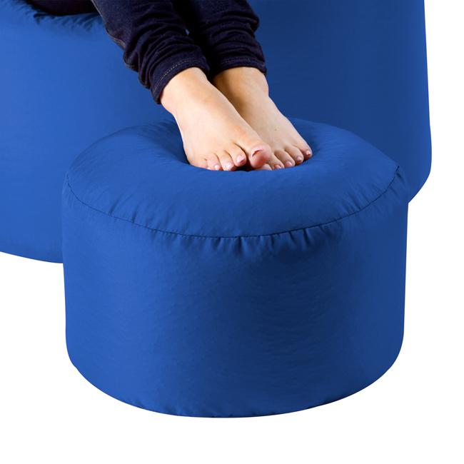 Image of Bean Bag Footstool Indoor-Outdoor Blue