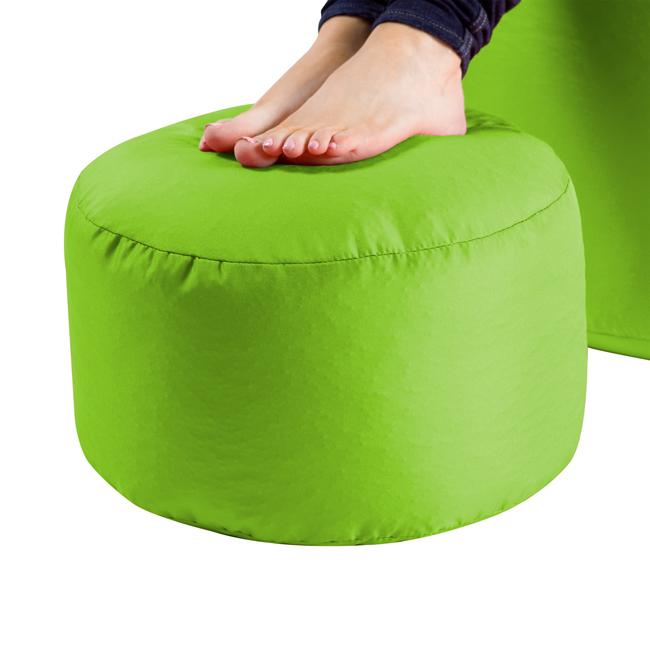 Image of Bean Bag Footstool Indoor-Outdoor Lime