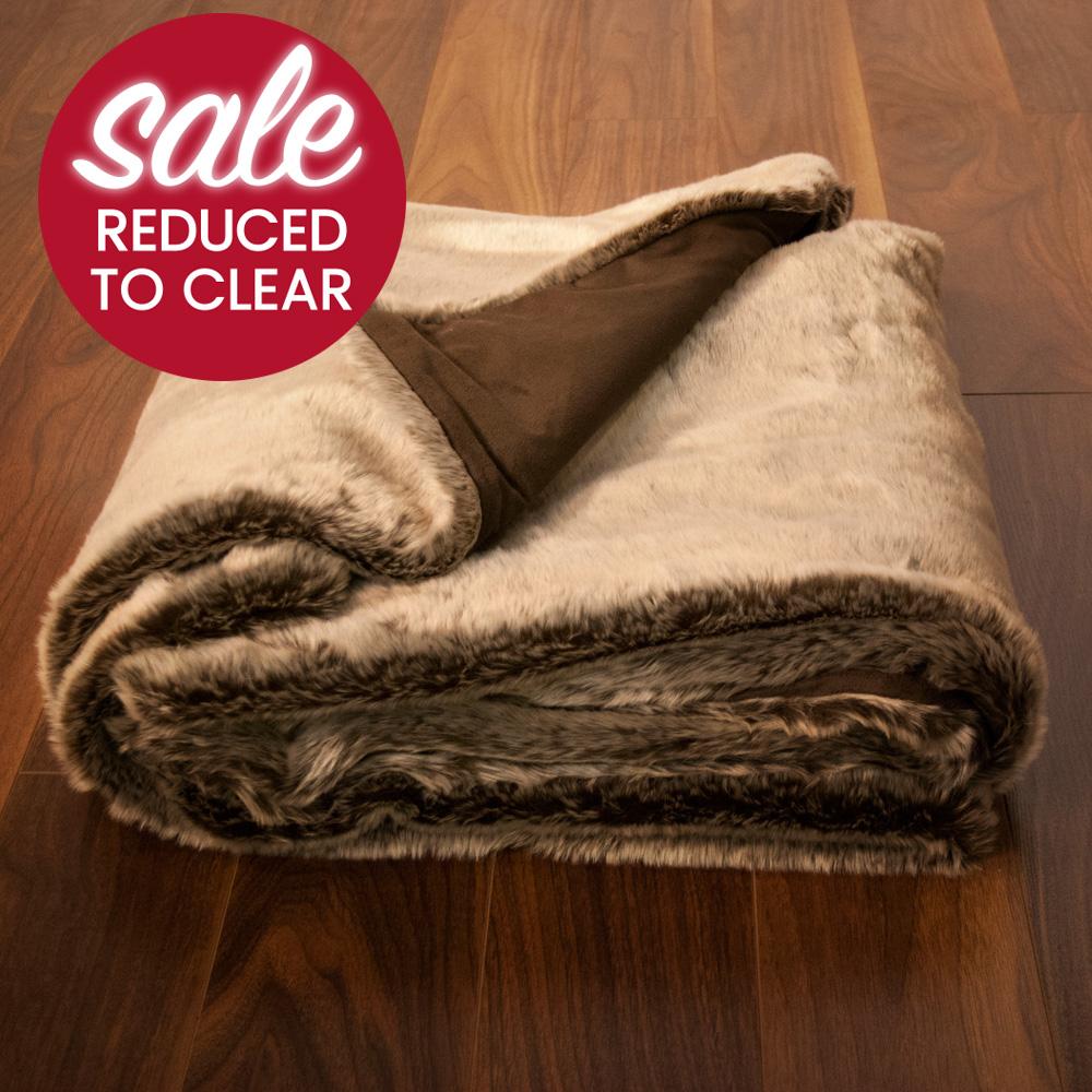 Home Accessories Luxury Faux Fur Throw 150cm X 200cm Mink