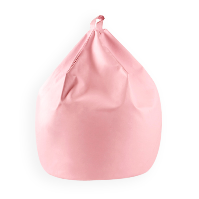 Image of Large Bean Bag with Handle Faux Leather Pink